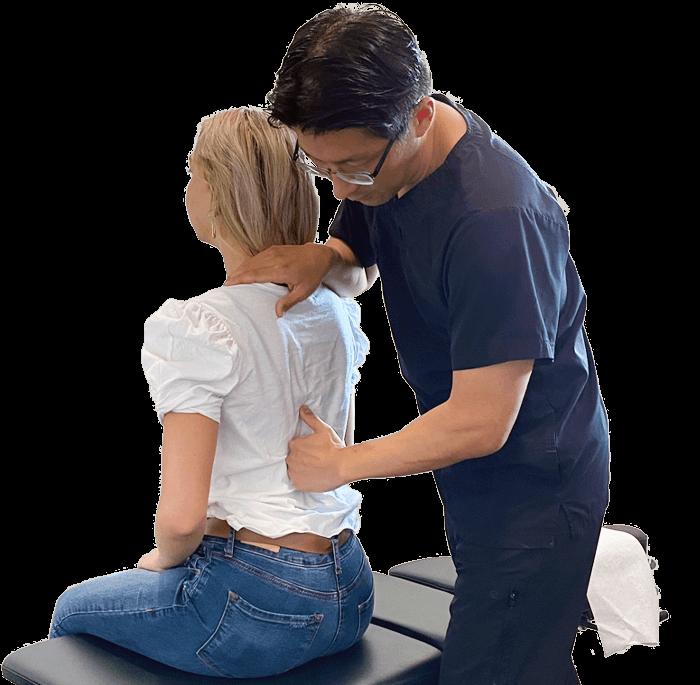 Chiropractor Tempe AZ Jae Chang and Patient